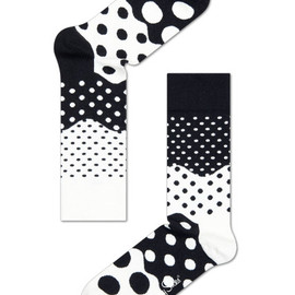 Happy Socks - Black and White Divided Dots