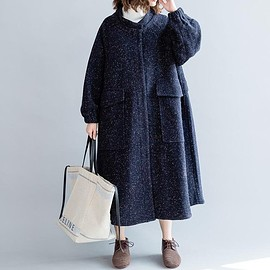 Women's winter coat, Cotton Oversized blouse, Loose Hooded clothes