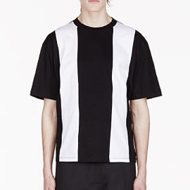 DIESEL - DIESEL Black & White Stripe MAYNO T-shirt