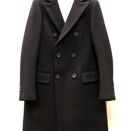 SCYE BASICS - 6B Double Breasted Chesterfield Coat - WOOL CASHMERE MELTON