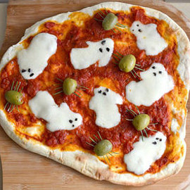 SPOOKY GHOST PIZZA RECIPE - SPOOKY GHOST PIZZA RECIPE