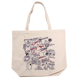 BBP - N.Y. Hip Hop Map  Tote Bag