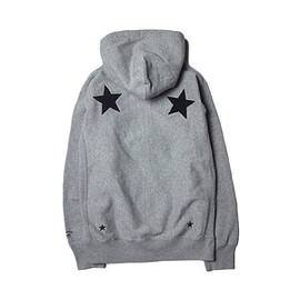 "UNRIVALED - UNRIVALED×M&M ""Basic Star Zip Parka"" M.GRAY"