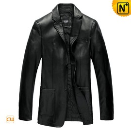 CWMALLS - Black Leather Blazer Jackets CW840801 - cwmalls.com