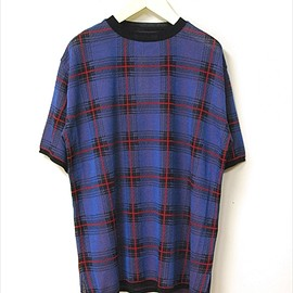THREE BLIND MICE - 14G JAQUARD TARTAN CHECK KNIT TEE