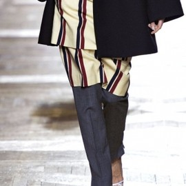 Dries Van Noten - 2013AW striped skirt