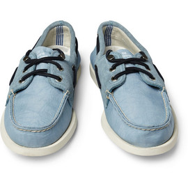 Sperry Top-Sider x Band of Outsiders Suede-Trimmed Boat Shoes