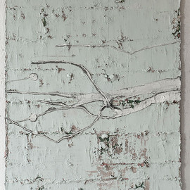 Jupp Linssen - Untitled #63512, mixed media on canvas