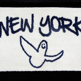 GONZ NY RUG - by Mark Gonzales(YELLOW×NAVY)
