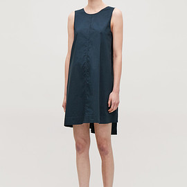 Cos - Cos double-layer sleeveless dress in blue