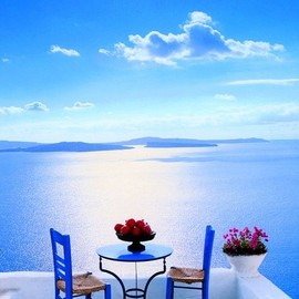 Greece - Patio in Santorini