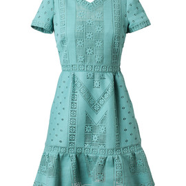 VALENTINO - GUIPURE LACE DRESS