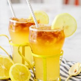 Lemon Shandy with Dark Rum Float