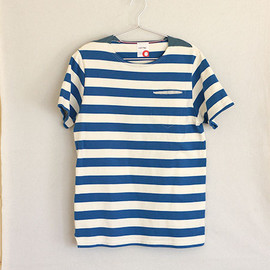 ACTS - BOAT NECK S/S-T (WHITE/BLUE)