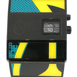 NIXON -  THE ROTOLOG BLUE / YELLOW GRAPHIC A028936