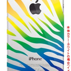 SECOND SKIN - Zebra レインボー (クリア) by ROTM / for iPhone 5s/au