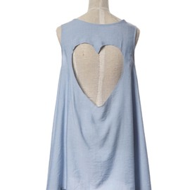 Honey mi Honey - Back heart tank tunic sax