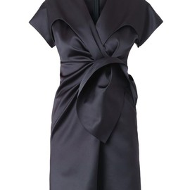 BALENCIAGA - Duchess-satin gathered-front dress
