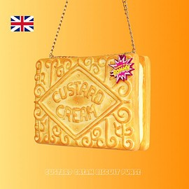 RommydeBommy - CUSTARD CREAM BISCUIT PURSE PURSES, PURSES COOKIES