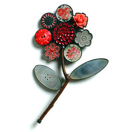bird tree brooch