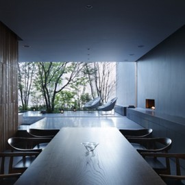Dinning Room, Water / optical Glass House