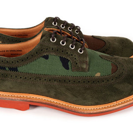 Mark McNairy - x Bodega Woodland Camo Long Wing Brogue