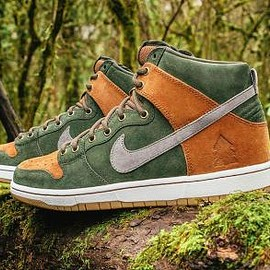 NIKE SB - HOMEGROWN × NIKE SB DUNK HIGH PREMIUM SEQUOIA/COOL GREY-ALE BROWN