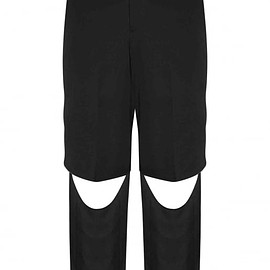 Comme des Garcons Homme Plus - Black Raw Edge Cut Wool Trousers