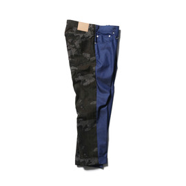 SOPHNET. - SLIM-FIT ANKLE CUT BACK PANEL JEANS