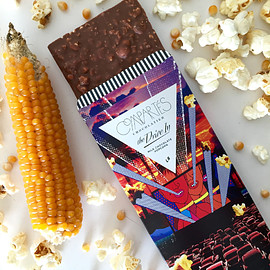 Compartes Chocolatier - CARAMELIZED POPCORN Milk Chocolate Bar - Chocolate Bar - Compartes Chocolatier Gourmet Chocolate - 1