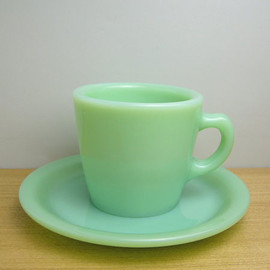 Fire King - Jadeite RW Straight Cup & Saucer