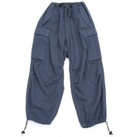 Y's - Dyed wool cargo pants Blue