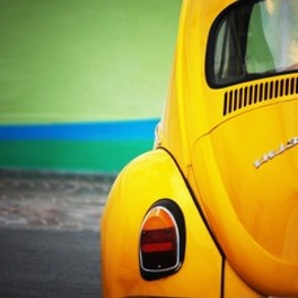 Volkswagen - Yellow vintage beatle