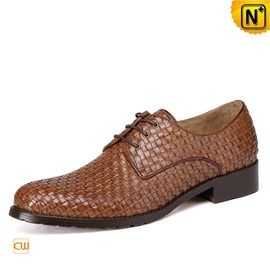 cwmalls - Mens Woven Leather Oxford Dress Shoes CW762019