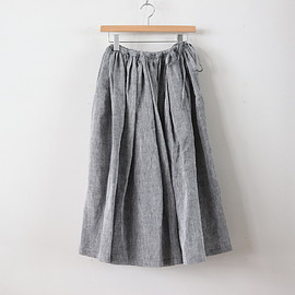 R&D.M.Co- - LINEN GATHER SKIRT #CHAMBRAY [no.2925]
