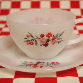 Fire King, ファイヤーキング, Anchor Hocking - Fire King Primrose Cup & Saucer #53