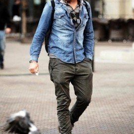 street style. diego luna rugged but good looking and attractive