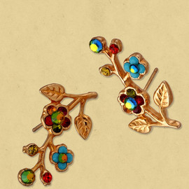 Michal Negrin - Gold Plated Stud Earrings / イヤリング