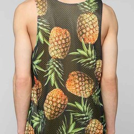 urban outfitters - Pineapples Mesh Tank Top