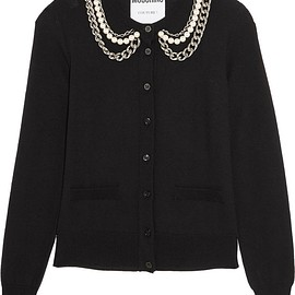 Moschino - Embellished wool cardigan