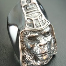 A BATHING APE - CRAZY PIG GENERAL RING