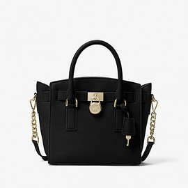 MICHAEL KORS - MICHAEL Michael Kors Hamilton Leather Satchel Black