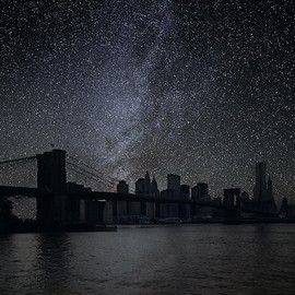"THIERRY COHEN - Darkened Cities / New York 40° 42′ 16"" N"