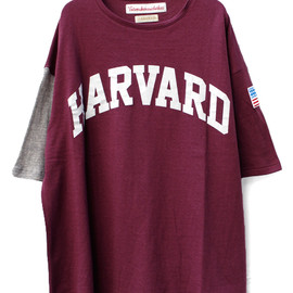VOTE MAKE NEW CLOTHES - VOTE MAKE NEW CLOTHES // HARVARD ARCH TEE(MAROON)