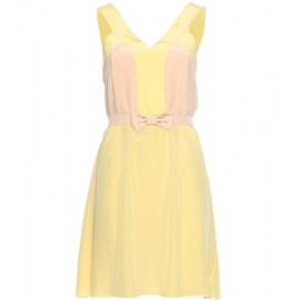 miu miu - COLOUR BLOCK SILK DRESS
