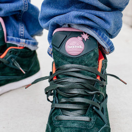 Reebok, The Hundreds - AXT Pump - Green/Pink/Gum