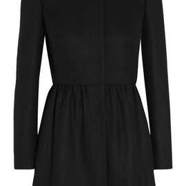 RED Valentino - Pleated wool-blend coat