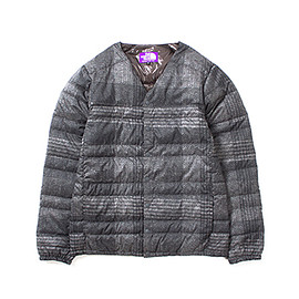 THE NORTH FACE PURPLE LABEL - THE NORTH FACE PURPLE LABEL  ザ ノースフェイス パープルレーベル PERTEX Tweed Print Down Cardigan ND2566N