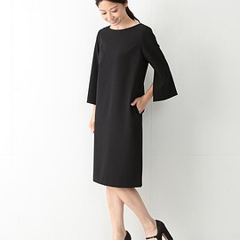 Demi-Luxe BEAMS - Demi-Luxe BEAMS / バックVネック スリットスリーブ ワンピース