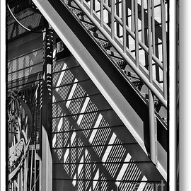Fine Art America - Sheltering Stairs Acrylic Print By James Rowland